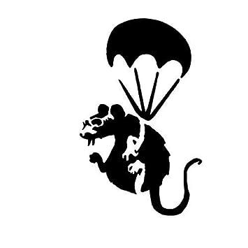 Banksy paracute Ratte Schablone / A4 Blatt Größe (Design 16x25cm ...