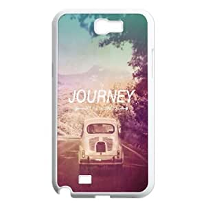 Dustin Funny Quote Samsung Galaxy Note 2 Cases the Journey not the Destination, [White]