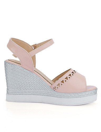 ShangYi Women's Shoes Leatherette Wedge Heel Wedges Sandals Casual Blue / Pink / White Blue g8qZaDWcn