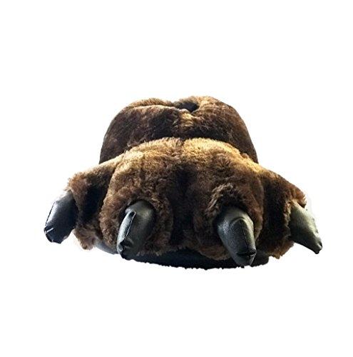 Boys Bear Claw (MA&B Animal Plush Paw Slippers   Bear Stuffed Claw Slippers   Novelty Slippers For Big Kids)