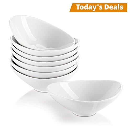 Lifver 8-Pack Bowl Sets/Ramekins, Lovely porcelain Dip Bowls, White (Sauce Dish Soy)