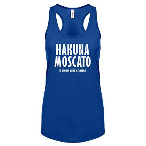 Racerback Hakuna Moscato Small Royal Blue Ladies Tank - 3379 Rb