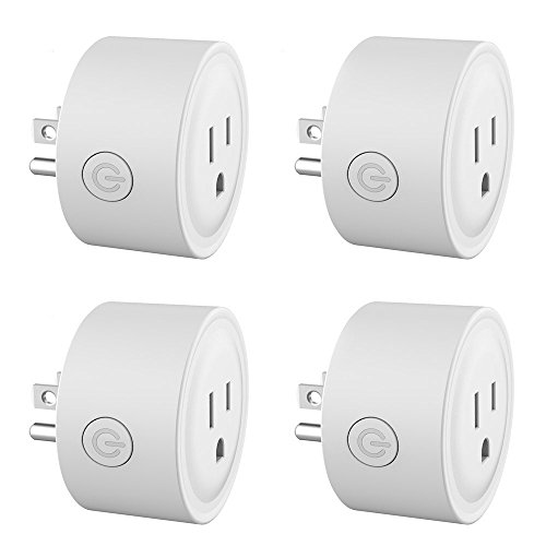 Price comparison product image Smart Plug Mini Wireless Smart Socket No Hub Required Wifi Outlet Compatible with Alexa & Timing Function Control your Devices Anywhere 4 PCS (White)