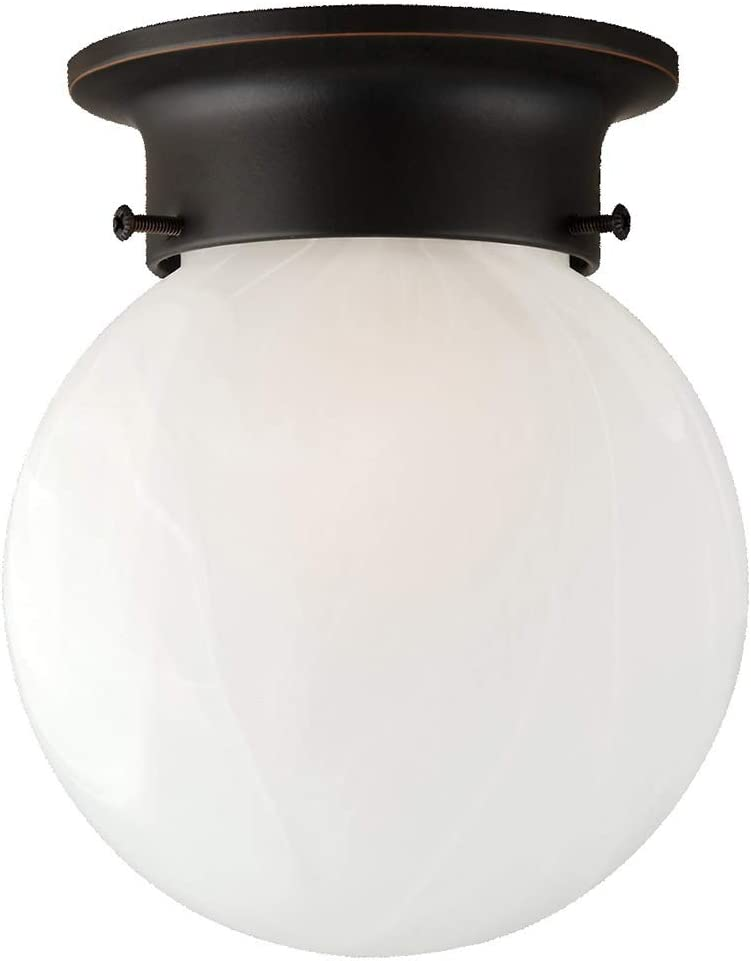 Design House 514521 Millbridge 1-Light Ceiling Mount 6.75-Inch by 6-Inch Oil Rubbed Bronze