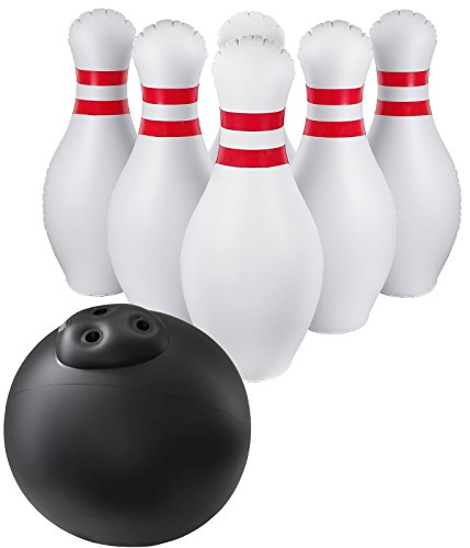 Greenco Giant Inflatable Bowling Set Outdoor and Indoor, Includes a Huge Ball 17