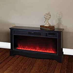 Lifesmart Products Zcfp1034us Low Profile Electric Media Fireplace Heater Black