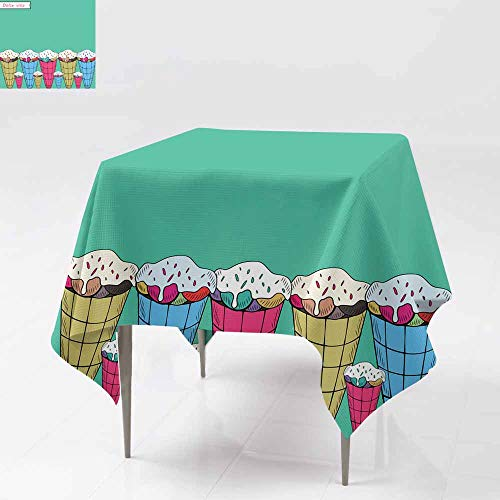 AFGG Square Tablecloth,Dolce vita,for Events Party Restaurant Dining Table Cover 60x60 Inch
