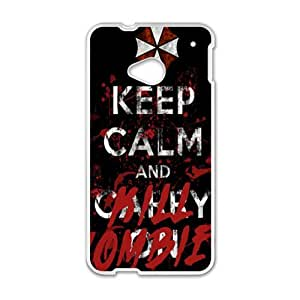 keep calm and kill?zombies Phone Case for HTC One M7
