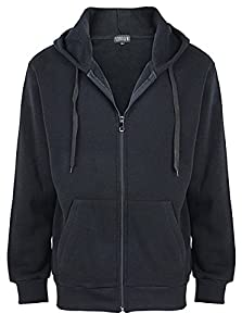 ZITY Hoodies for Men/Full Zip Casual Active Fleece Sweatshirt with Kangaroo Pocket