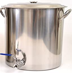 8 Gallon Stainless Steel Brew Pot with Stainless Ball Valve