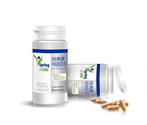 Spring of Life Pure Probiotic Supplement, 42.5 Billion CFU, 11 Probiotic Strains, No Refrigeration Necessary, 30 Day Supply