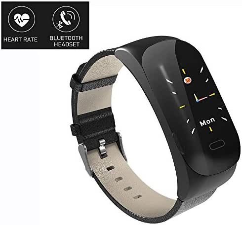 Linbing123 Smart Bracelet Color Screen, Fashion Exercise Heart Rate and Blood Pressure Health Monitoring Waterproof Tracker Color Sleep Monitor, Pedometer