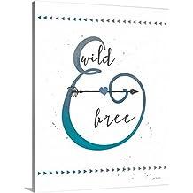 Jo Moulton Premium Thick-Wrap Canvas Wall Art Print entitled Wild and Free