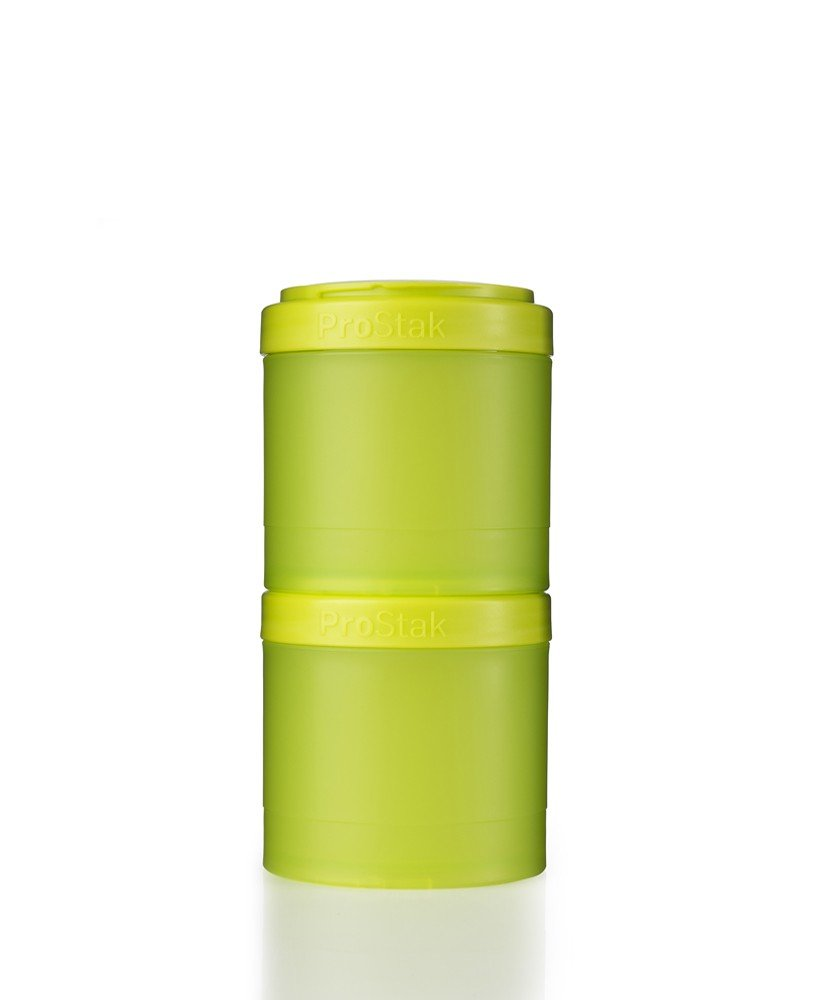 BlenderBottle ProStak Twist n' Lock Storage Jars Expansion 2-Pak with Pill Tray, Green