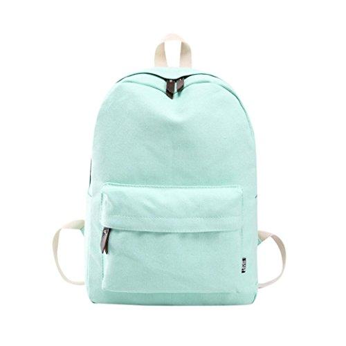 Womens Backpack,TUDUZ Women Girls Canvas Preppy Shoulder Bookbags School Travel Backpack Bag (Mint Green) Mint Green