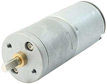 eDealMax 12V 50mA 10rpm 2 pines Micro motor de la CC, tono de plata