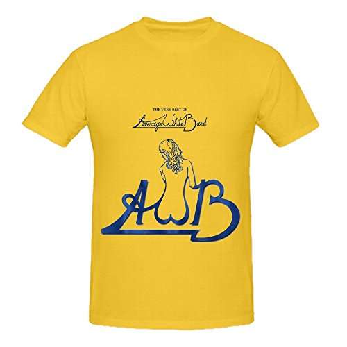 Average White Band The Very Best Of Average White Band 80s Men O Neck Slim Fit T Shirts Yellow