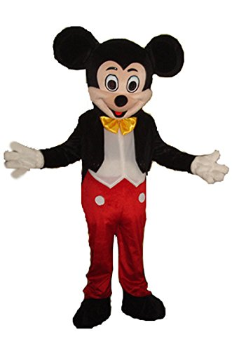 [JWUP Mickey Mouse Mascot Costumes for Adults Christmas Halloween Outfit Fancy Dress Adult Size] (Mickey Mouse Halloween Costumes For Men)