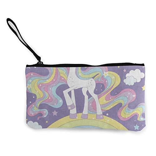Canvas Coin Purse Unicorn...