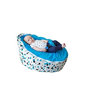 BayB Brand Baby Bean Bag - Filled - Ships in 24 Hours! (Blue/Multi)