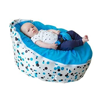 Superb Bayb Brand Baby Bean Bag Filled Ships In 24 Hours Blue Multi Bralicious Painted Fabric Chair Ideas Braliciousco