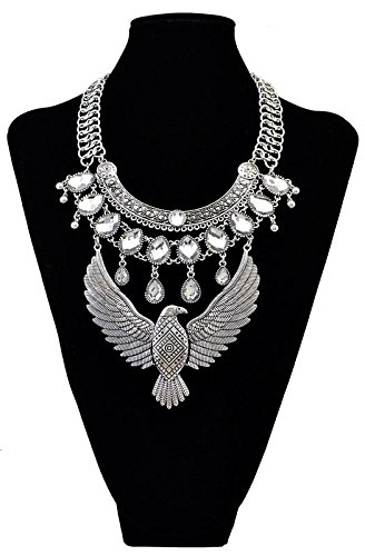 Generic Hot_exaggerated_ personality retro fashion style _eagle_ pendant necklace _jeweled_ necklace pendant Europe 's_first_multi-layer_ tassel _drop