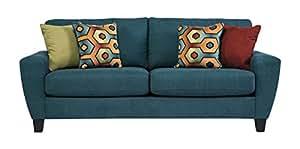 Ashley Furniture Signature Design - Sagen Sofa - Contemporary - Teal