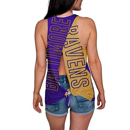 FOCO NFL Baltimore Ravens Womens Tie Breaker Tank Top ShirtTie Breaker Tank Top Shirt, Team Color, Medium