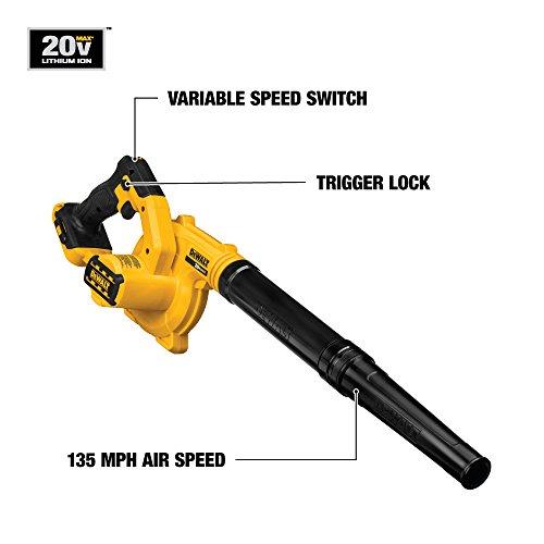 DEWALT DCE100B 20V MAX Compact Jobsite Blower Baretool