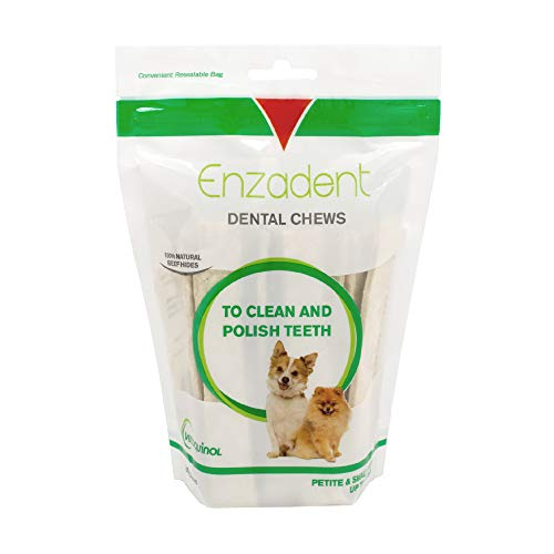 Vetoquinol Enzadent Dental Chews for Petite & Small Dogs 0-15 lbs, 30ct