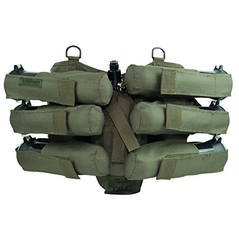 (Valken Paintball 6+1 Harness, Olive)