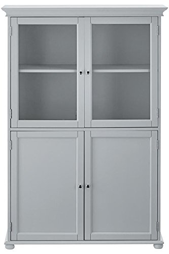 "Home Decorators Collection Hampton Bay 36"" w Four Door Tall Cabinet, Standard 36"" W, Dove Grey"