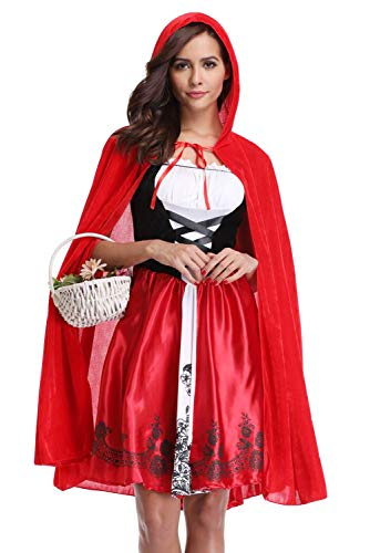 - Adult Red Riding Hood Costume Hallowen Chritmas Cosply for Women M