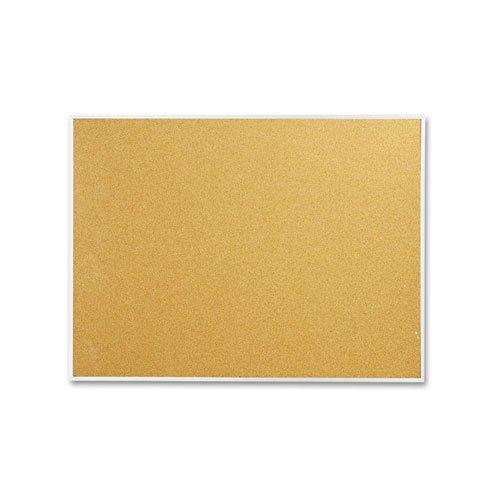 Cork Bulletin Board, 48 x 36, Aluminum Frame, Sold as 1 Each