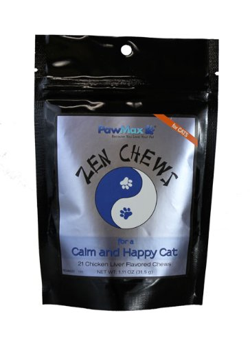 PawMax Zen Chews for Cats-Anti Anxiety Calming Chews-Vet Approved-Safe & Natural *MADE IN USA!