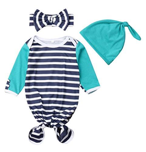 Newborn Swaddle Blanket Nightgown Headband product image