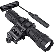 Feyachi FL11 Tactical Flashlight 1200 Lumen LED Light with Picatinny Rail Mount for Outdoor Hunting Shooting,