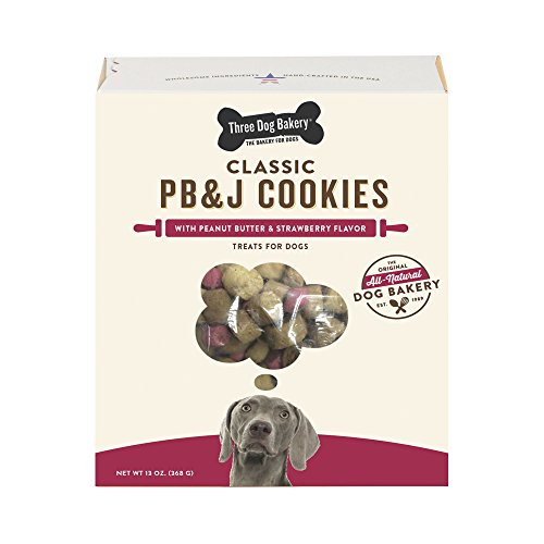 Three Dog Bakery Classic Cookies Pb&J Treats For Dogs, 13 Oz