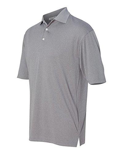 FeatherLite Men's 0469 Moisture Free Mesh Short Sleeve Sport Polo Shirt (Small, Heathered Steel)