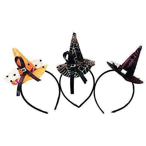 3 Pcs Halloween Witch Hat, Homezal Fashion Witch