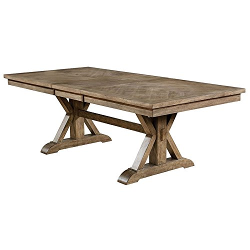 (Furniture of America Kora Extendable Dining Table in Light Oak)