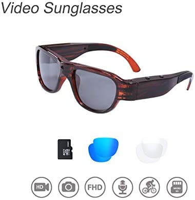 OhO sunshine THB588F OHO Video Sunglasses, 32GB Ultra HD Outdoor Sports Action Camera with Built in 16MP Camera and Polarized UV400 Lens, Compatiable with Prescription Lens 1920×1080