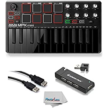 akai professional mpk mini mk2 mkii 25 key ultra portable usb midi drum pad. Black Bedroom Furniture Sets. Home Design Ideas