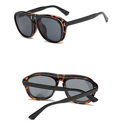 Zcargel Mens Womens Vintage Flip-up Sun Glasses Boho Chic Gothic Steampunk Lens Mirror Lens Sunglasses - Sunglasses Flip Lens