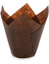 Brown Tulip Baking Cups, Medium Size, for Muffins, Cupcakes, Eco Friendly, Disposable, Non-Stick, Pack of 250 - by Ecobake