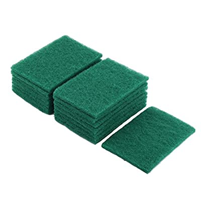 uxcell® Sponge Household Kitchenware Bowl Dish Wash Cleaning Scrub Pad 15 Pcs Green