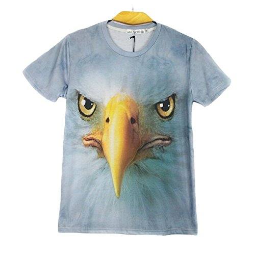 Nanxson(TM) Men's 3D Animal Patterned Short Sleeved Fashion T shirt TXM0012 (M, eagle)