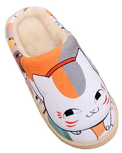 Gumstyle Japanse Anime Stijl Antislip Huis Slippers Winter Pluche Warme Indoor Schoenen Natsume Yuujinchou
