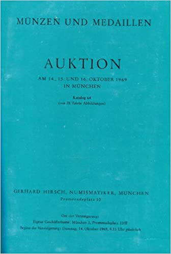 Münzen Und Medaillen Auktionen 64 69 Jahr 1969 Amazonde