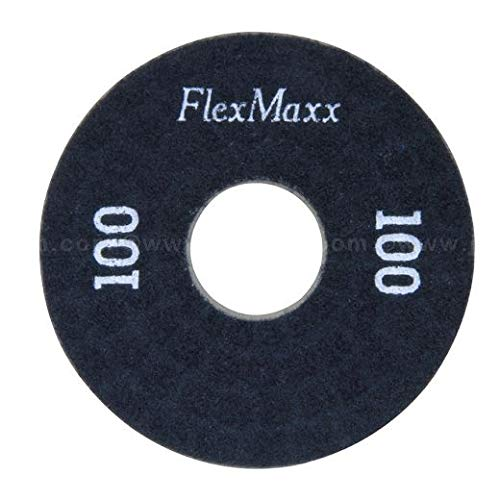 FlexMaxx 5‑Inch Concrete Polishing Pads, Medium, 100 Grit (2 Units)